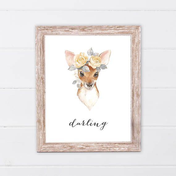 Woodland Nursery Girl  Darling  Forest Friends  Deer