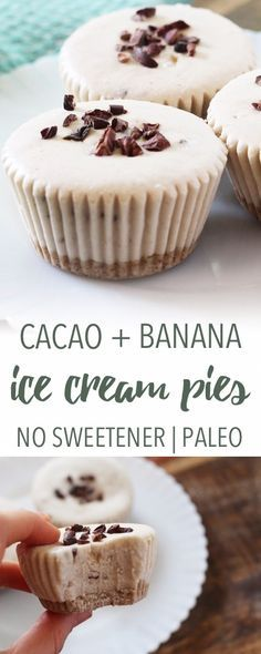 Banana ice cream pies | Empowered Sustenance