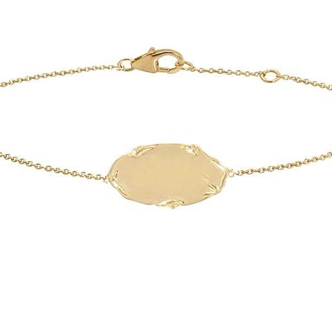 A la naissance ou au baptême d'un enfant, la gourmette compte parmi les cadeaux traditionnels et symboliques. April propose une gourmette dont la médaille, retenue par une chaîne, porte l'empreinte d'une liane. Disponible en deux longueurs de bracelet 14cm et 18 cm, ce bracelet peut également faire l'objet d'une gravure (offerte).