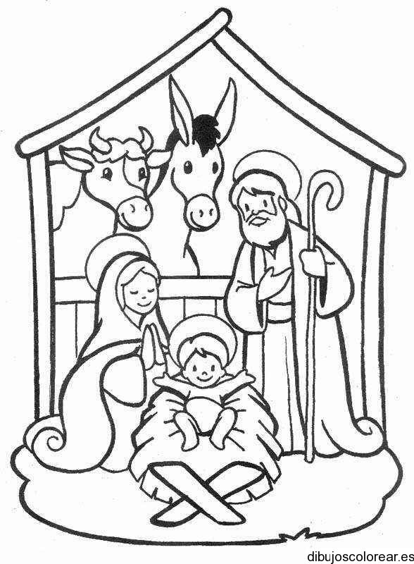 Baby Jesus Holy family Bethlehem Coloring page