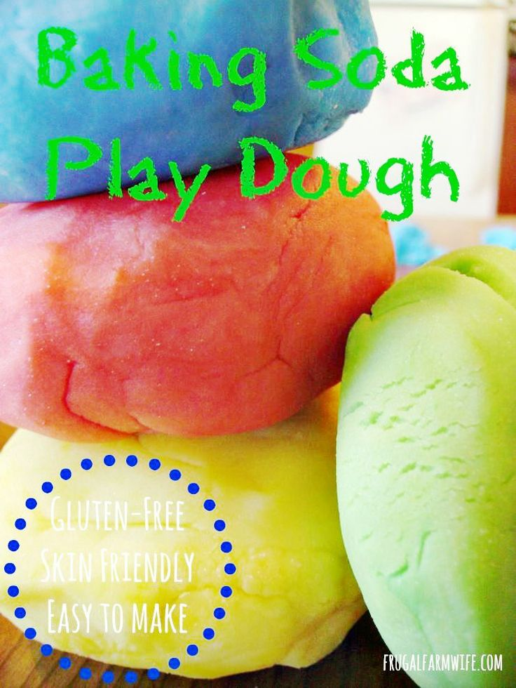 Baking soda play dough is an allergy-friendly alternative to traditional recipes