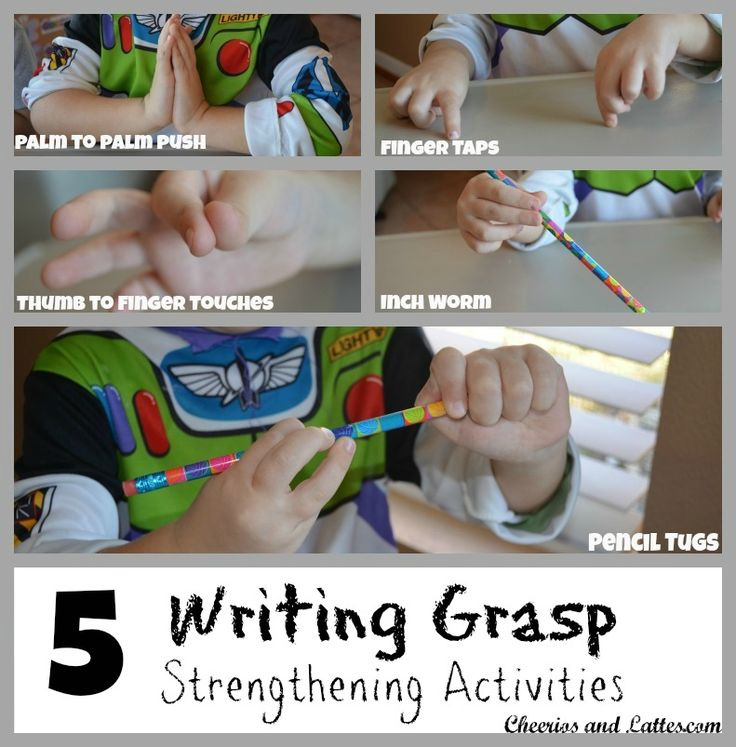 5 Writing Grasp Strengthening Activities