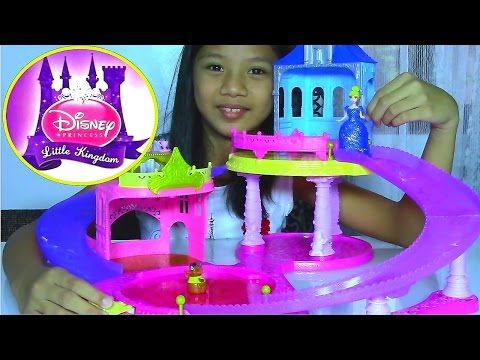 Disney Princess Little Kingdom Glitter Glider Castle Playset with Cinderella - Kids' Toys - YouTube