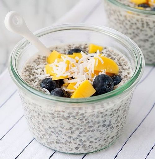 Chia Seed Pudding with Mango and Blueberry | Recipe ...