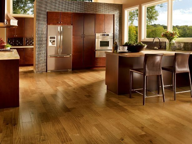 Great Floor Color For Dark Cabinets.