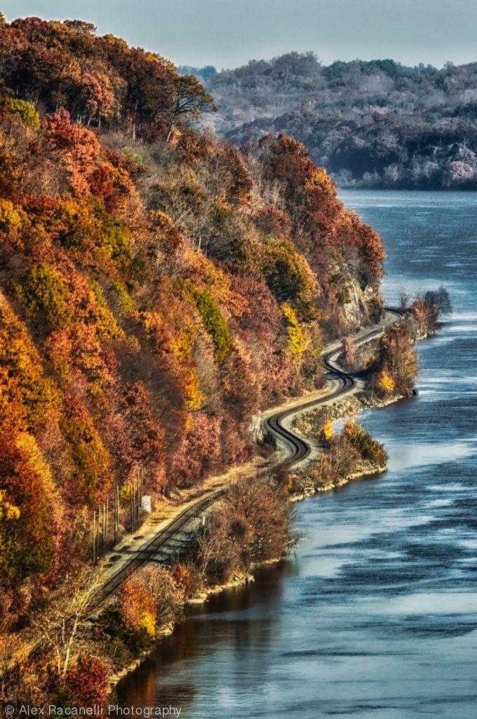 along the Hudson River near Poughkeepsie, Hudson State Park, New York