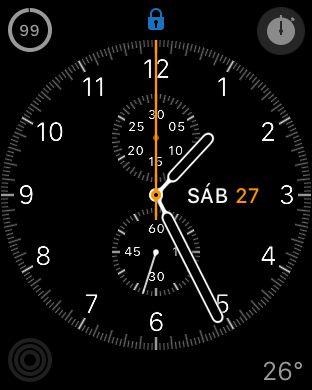 Una de las esferas del Apple Watch.