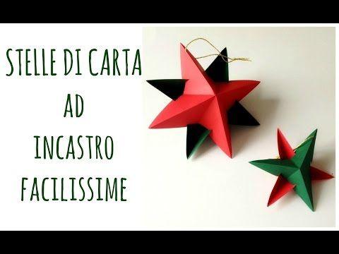 Stelle di Carta ad incastro senza colla ne punti,FACILISSIME!/Paper star (Natale) Arte per Te - YouTube