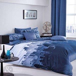 LINGE DE LIT PARURE DE DRAP Bleu marine Parure de - Achat / Vente parure de drap - Soldes * Cdiscount