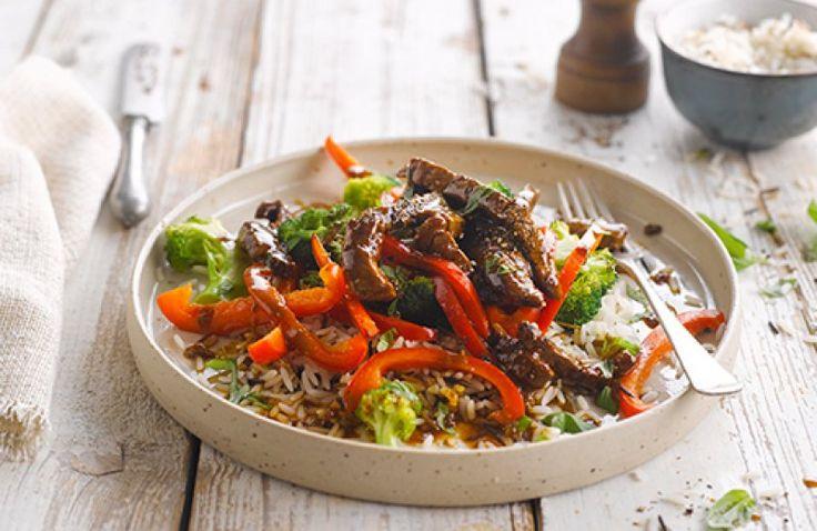 Rundvlees roerbak met broccoli