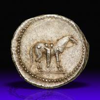 Denario - argento - (ca.40 a.C.) - Q. Labienus Particus) - cavallo ritto vs.dx. con finimenti, sella e lunga guaina per l'arco di tipo partico - Mercato antiquario