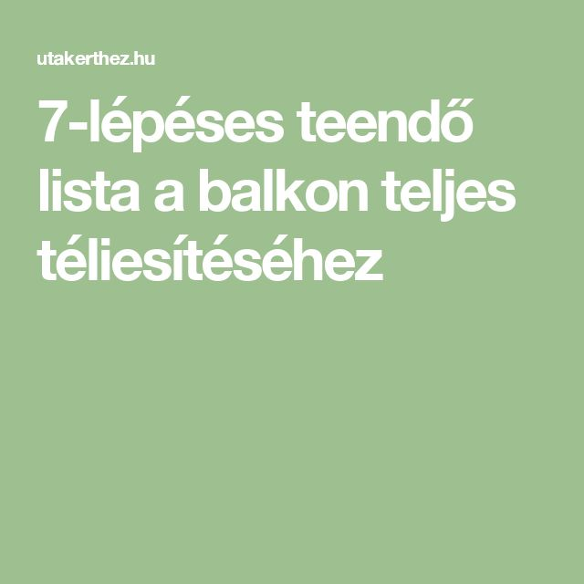 7-lépéses teendő lista a balkon teljes téliesítéséhez