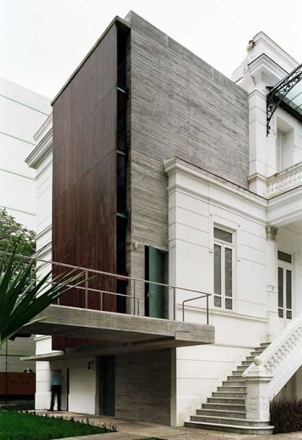 white stucco mixed with some modern