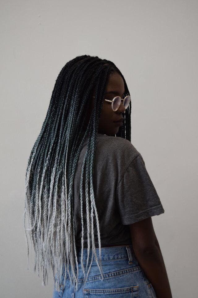 #hair #braids #greyhair