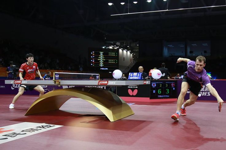 Japan's Kenta Matsudaira  got kicked out by the Danish Jonathan Groth ! #ITTFWorlds2015