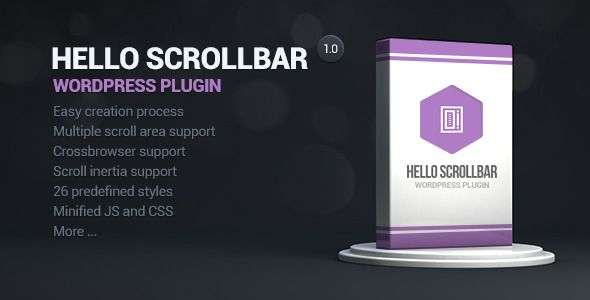 Hello Scrollbar Wordpress Plugin by unleashed2010 Hello Scrollbar Hello scrollbar is a wordpress plugin, which can be used for creating scroll areas in sidebar or page content! If your sidebar contains plenty widgets and you want to save some space you will find this plugin extr
