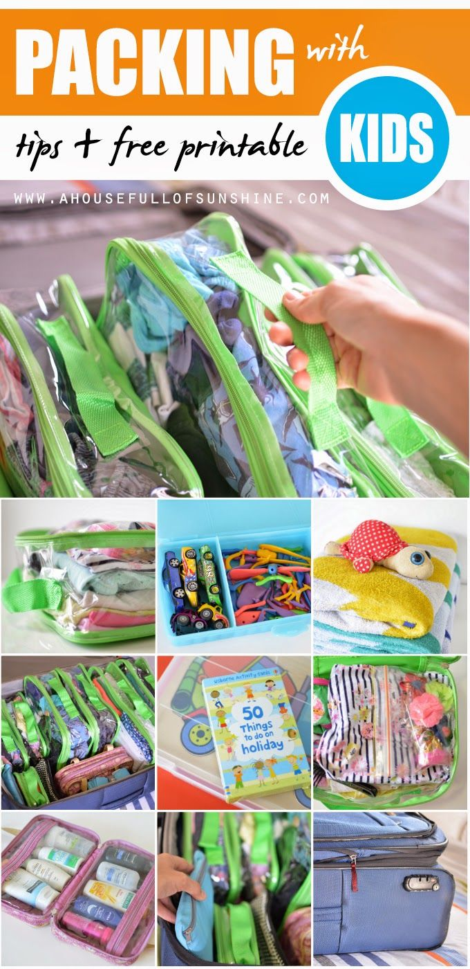 A house full of sunshine: Packing for kids - with FREE printable and a giveaway!