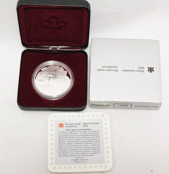 1996 Canadian 200th Anniversary John McIntosh Proof Silver dollar #Canada #Canadian #silver #dollar #coin #proof #commemorative