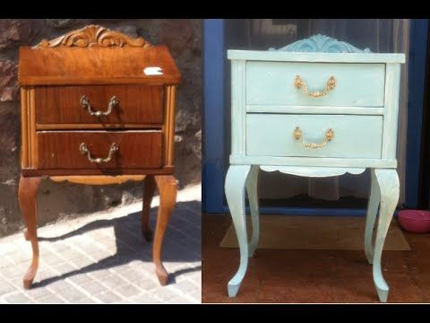 RESTAURACION DE UN MUEBLE CON CARCOMA Y PINTURA EFECTO TIZA CHALK-PAINT - YouTube