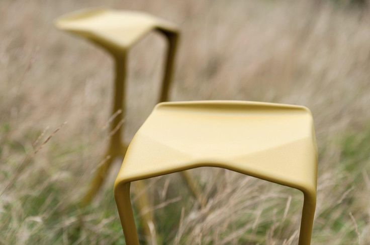 PLANK MIURA stools, design Konstantin Grcic  http://www.plank.it/products/outdoors/