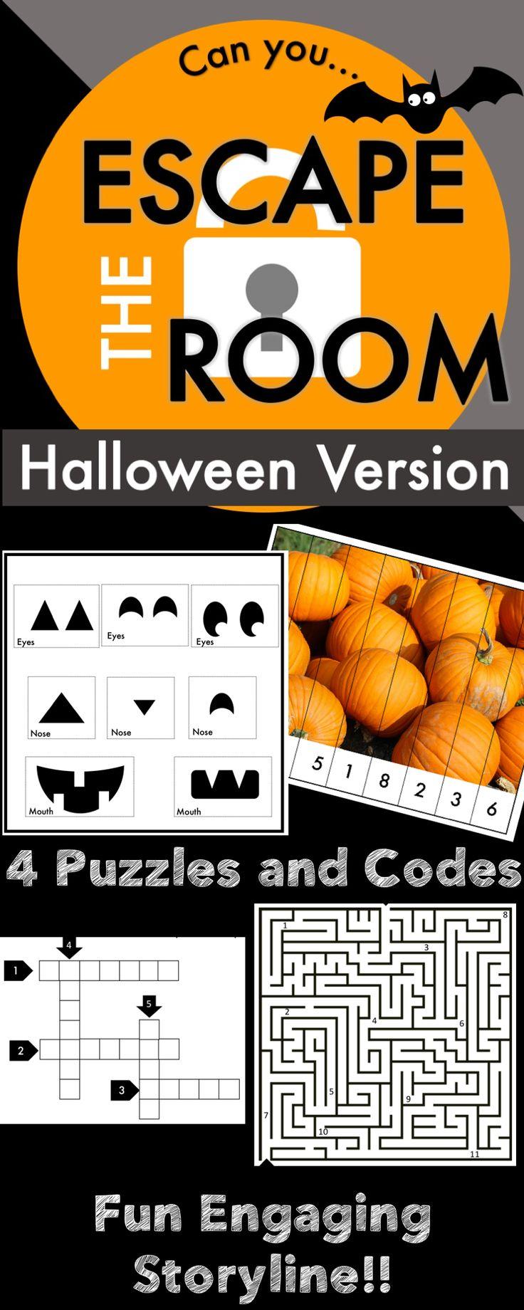 Halloween Escape Room Classroom halloween party