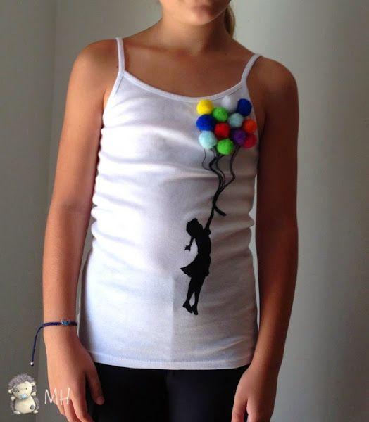 Personalizar una camiseta de chica con globos