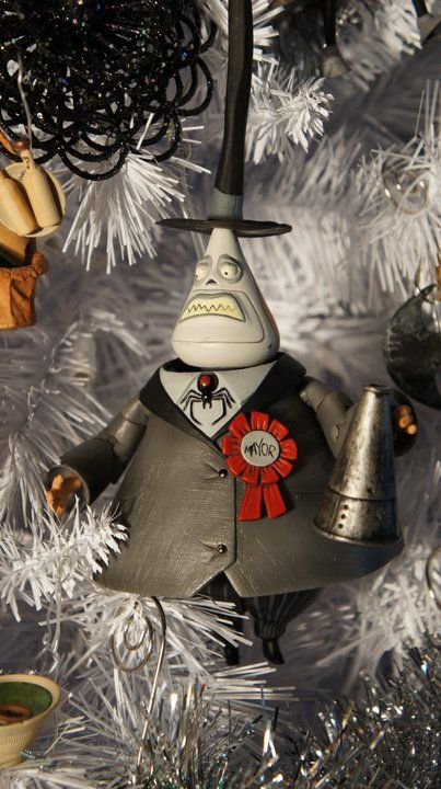 "From Greg Horn's custom Nightmare Before Christmas tree. ""  The mayor. He is two-faced just like in the movie."""