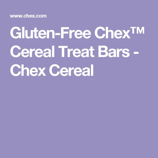 Gluten-Free Chex™ Cereal Treat Bars - Chex Cereal