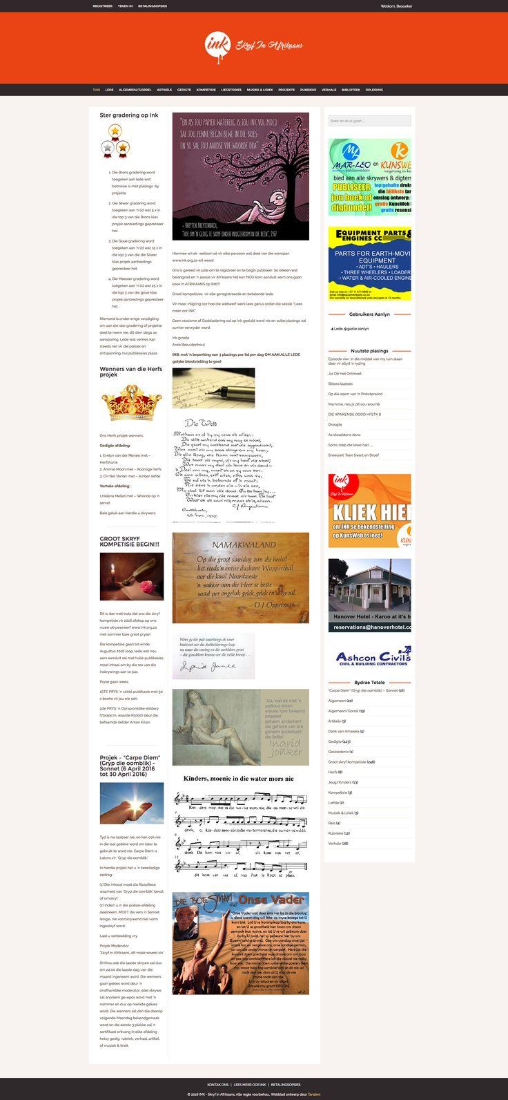 INK - Afrikaans Writers Website