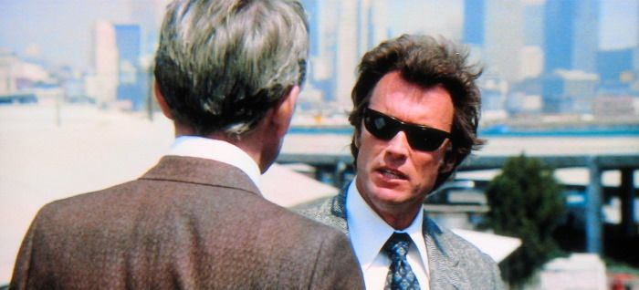 Magnum Force movie scenes  and in Magnum Force he comes face to face with a more extreme version of himself a police death squad cleaning up the streets when the justice system