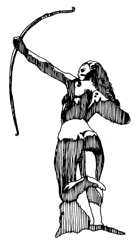 Diana Cazadora. Tinta.