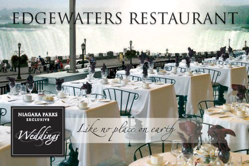 Edgewaters restaurant is an amazing venue for your Niagara Falls wedding experience! Get some more great ideas on this blog:  http://www.cliftonhill.com/falls_blog/plan-your-wedding-in-niagara-falls/