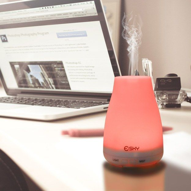 An aromatherapy mist diffuser that will help you relax wherever you go.