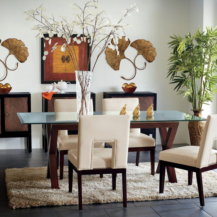 Clear Brown Bennett Glass Table Top Dining Set