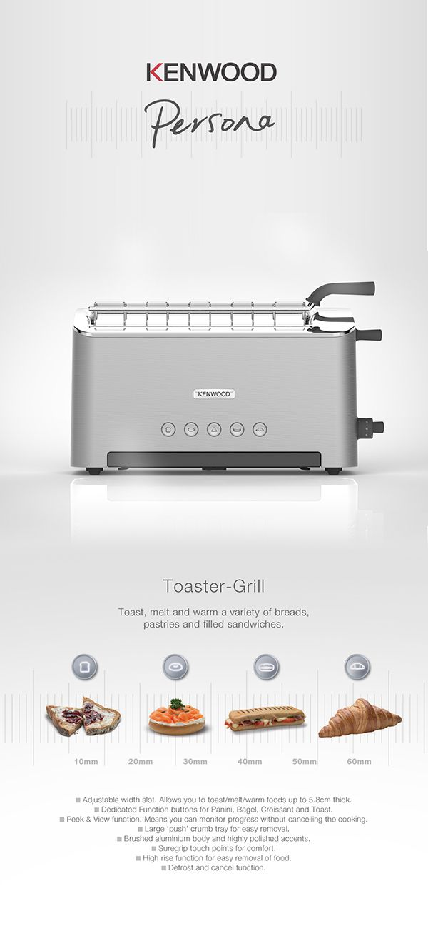 KENWOOD | Adjustable Slot Toaster by Nick Brook, via Behance
