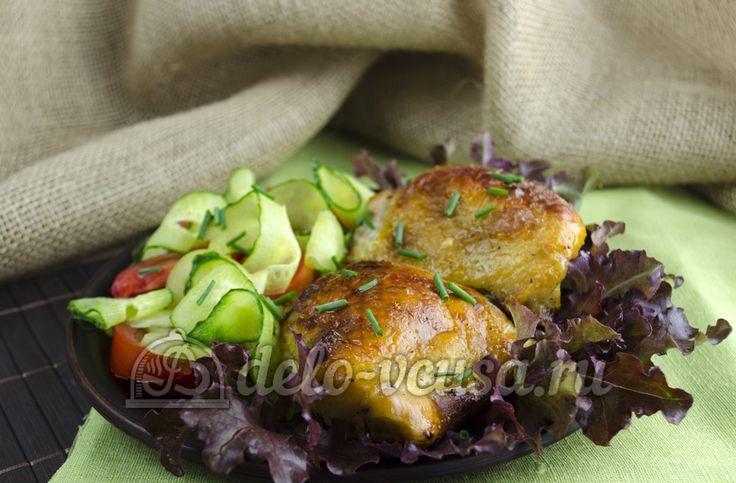 Рецепт приготовления маринованной курицы в кефире в духовке #курица #птица #еда #рецепты #деловкуса #готовимсделовкуса