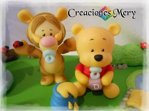 souvenirs de winiw pooh en porcelana fria - Buscar con Google