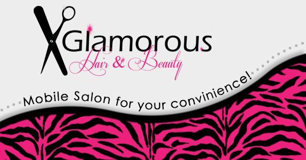 Glamorous Hair & Beauty Corporate Identity Design by Karine Taljaard, via Behance