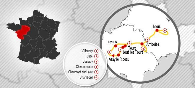 Loire Valley Classic 7 Nights European Tour Packages and Overseas Cycling Vacations