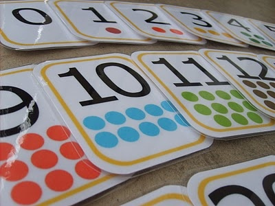 Number Flashcard Printables    Comes with:  -numbers 0-20  -counting dots for each number  -common math symbols    Also a good explanation of why these flashcards are better than the flashcards you find at the store.    www.the-red-kitchen.com