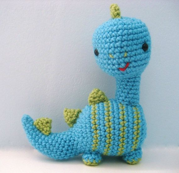 Amigurumi Crochet Dinosaur Pattern Digital Download Toys ...