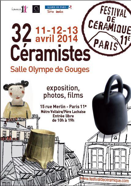 Du 11 au 13 avril 2014 - Festival de céramique du 11ème - 32 céramistes