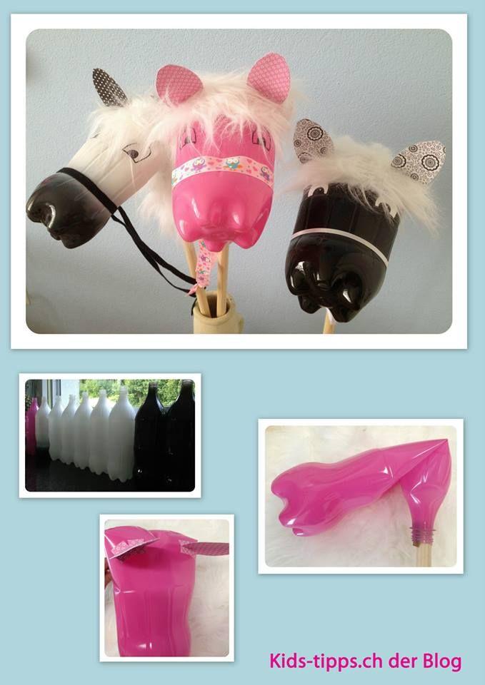 Pet bottle stick horse