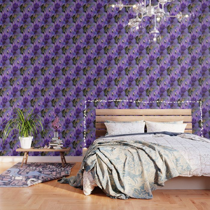 Peel And Stick Purple Gold Abstract Watercolor Wallpaper Mural Removable Large Wall Mural Self Adhesive Custom Vinyl Wallpaper Accent Wall Watercolor Wallpaper Large Wall Murals Purple Accent Walls