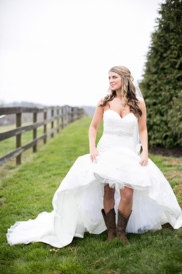 short wedding dresses with cowboy boots  Wedding