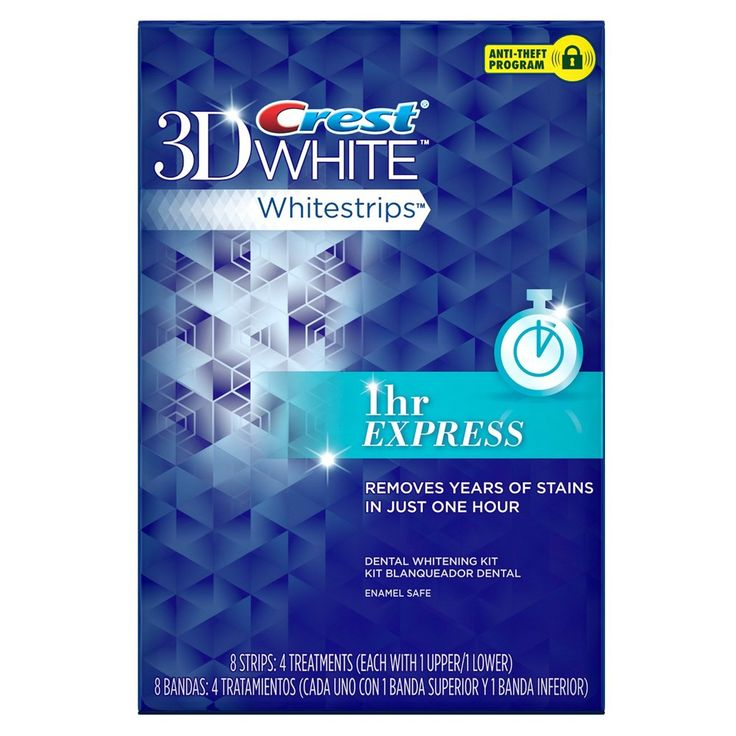 Один комплект: полоски Crest 3D White Whitestrips 1 Hours Express