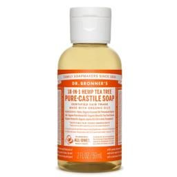 Tea Tree Pure Castile Liquid Soap 59ml : The ultimate all-in-one cleanser. Use it on your dishes, laundry, clean the bathroom, then clean yourself!