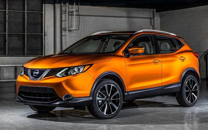 Descargar fondos de pantalla Nissan Rogue Deporte, 2017 autos, crossovers, Nissan Qashqai, los coches japoneses, Nissan