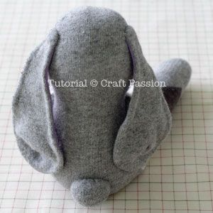Sew | Sock Bunny Lop-Eared | Free Pattern & Tutorial at CraftPassion.com