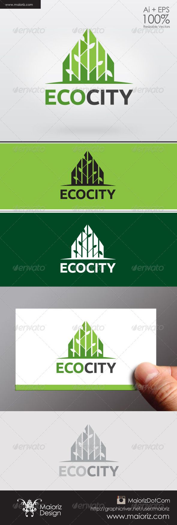 Eco City Logo  #GraphicRiver                  File Description  This is custom logo template. Illustrator (AI), Vector (EPS) logo files included in this download. You can customize to your own branding. All colors and text can be modified.  FEATURES    The Logo Is 100% Vector.  100% Customizable.  Fully Layered Logo Template.  CMYK.  Buttons include.  High Quality.  AI, EPS 8/10.  Not Include Mockups identity card.   - The typography used is Ubuntu Titling you can download here…